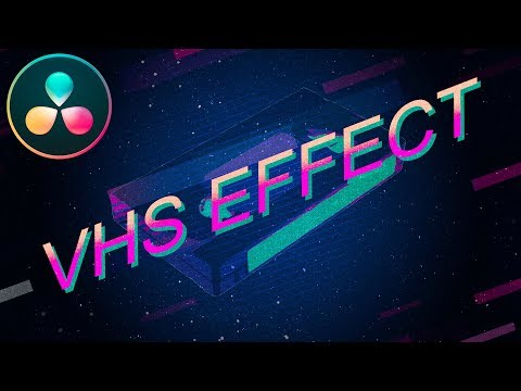 VHS Effect In Resolve 16 | DaVinci Resolve Tutorial