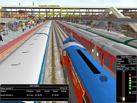 Tourist Train Rescue (Pilgrim to Ajmer Sharif) || Indian Railway In MSTS Open Rails