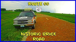 Checking out the historic brick road of Auburn Illinois Route 66 - Fly and drive
