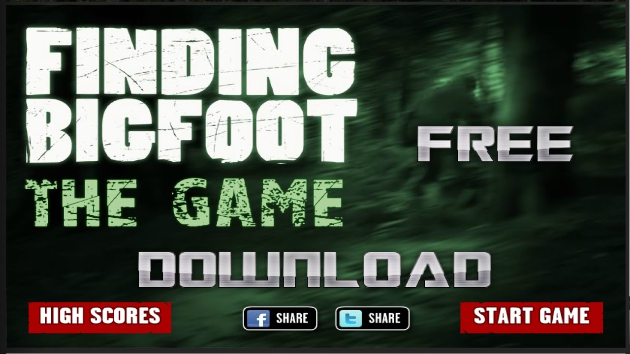 finding bigfoot free games