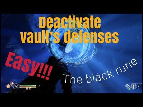 God of war (The Black Rune) Deactivate vault's defenses easy!!!