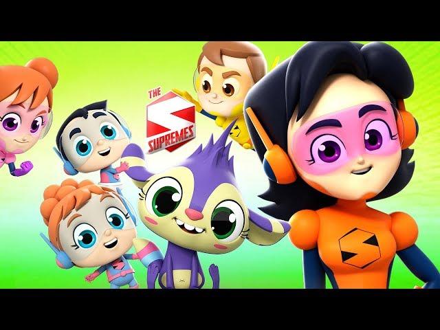 Meet The Supremes | Nursery Rhymes For Kids | Superheroes Cartoons For Babies by Farmees