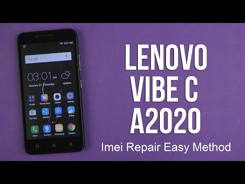 how to repair imei in LENOVO VIBE C a2020a40 - YouTube