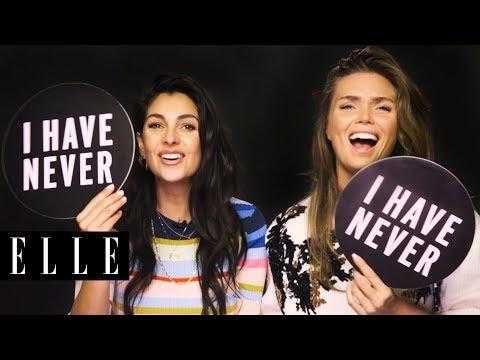 HNTM's Anna Nooshin en Kim Feenstra doen Never Have I Ever Challenge | ELLE