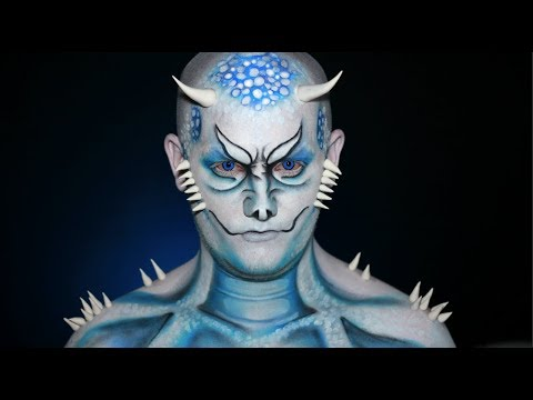 GAME OF THRONES – White Walker Dragon – Halloween Makeup Tutorial