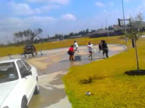 Morales water balloon fight