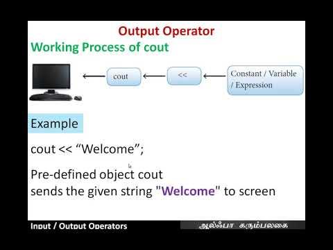 Input Output Operators