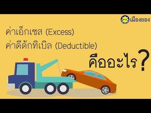 ประกันภัยรถยนต์ ค่าเสียหายส่วนแรก Deductible และ Excess คืออะไร
