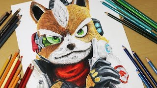 fox mccloud from star fox drawing lesson