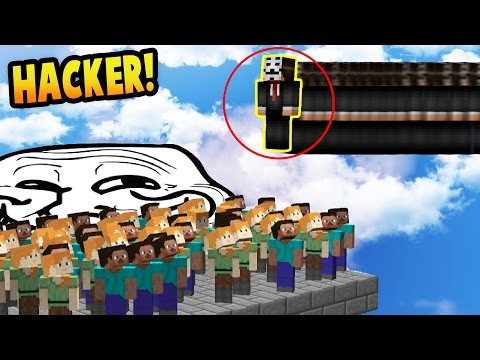 FLY HACKER OVER SPAWN! - Catching Hackers Trolling!