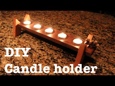 Simple DIY candle holder