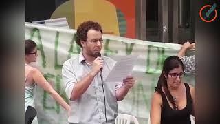 Protesta en el congreso contra la aprobación de la ley de semillas de Monsanto