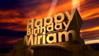 Happy Birthday Miriam