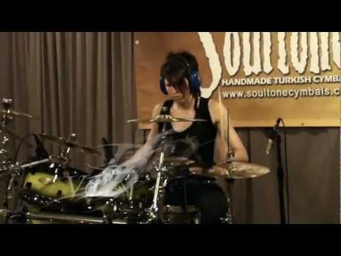 "DMC featuring Pauley Perrette - ""Attention Please"" drum cover by Veronica Bellino"