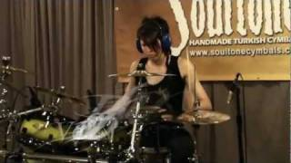 """DMC featuring Pauley Perrette - """"Attention Please"""" drum cover by Veronica Bellino"""