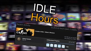 idle steam games hours throught phone no pc