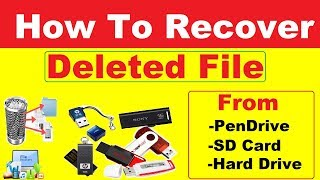 How to Recover Deleted files from Pendrive | Memory Card | Hard Drive