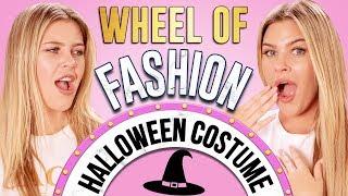 HALLOWEEN COSTUME CHALLENGE?! Wheel of Fashion w/ Caci Twins