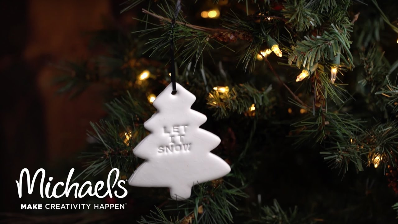 diy holiday clay ornaments crafted michaels youtube