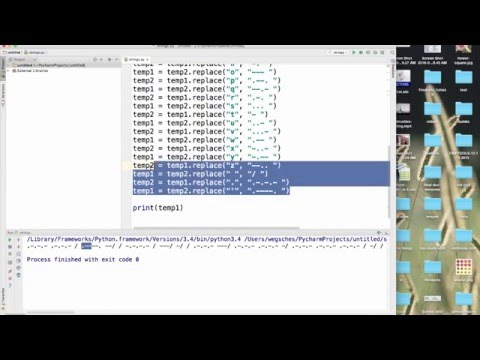 Learning Python: simple Morse converter using String Replace Method