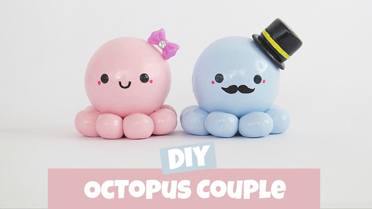 Diy Calendar Nim C : Diy octopus couple charm youtube