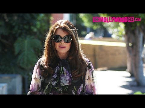 Lisa Vanderpump Goes Shopping With A Friend On Melrose Place In West Hollywood 4.19.17