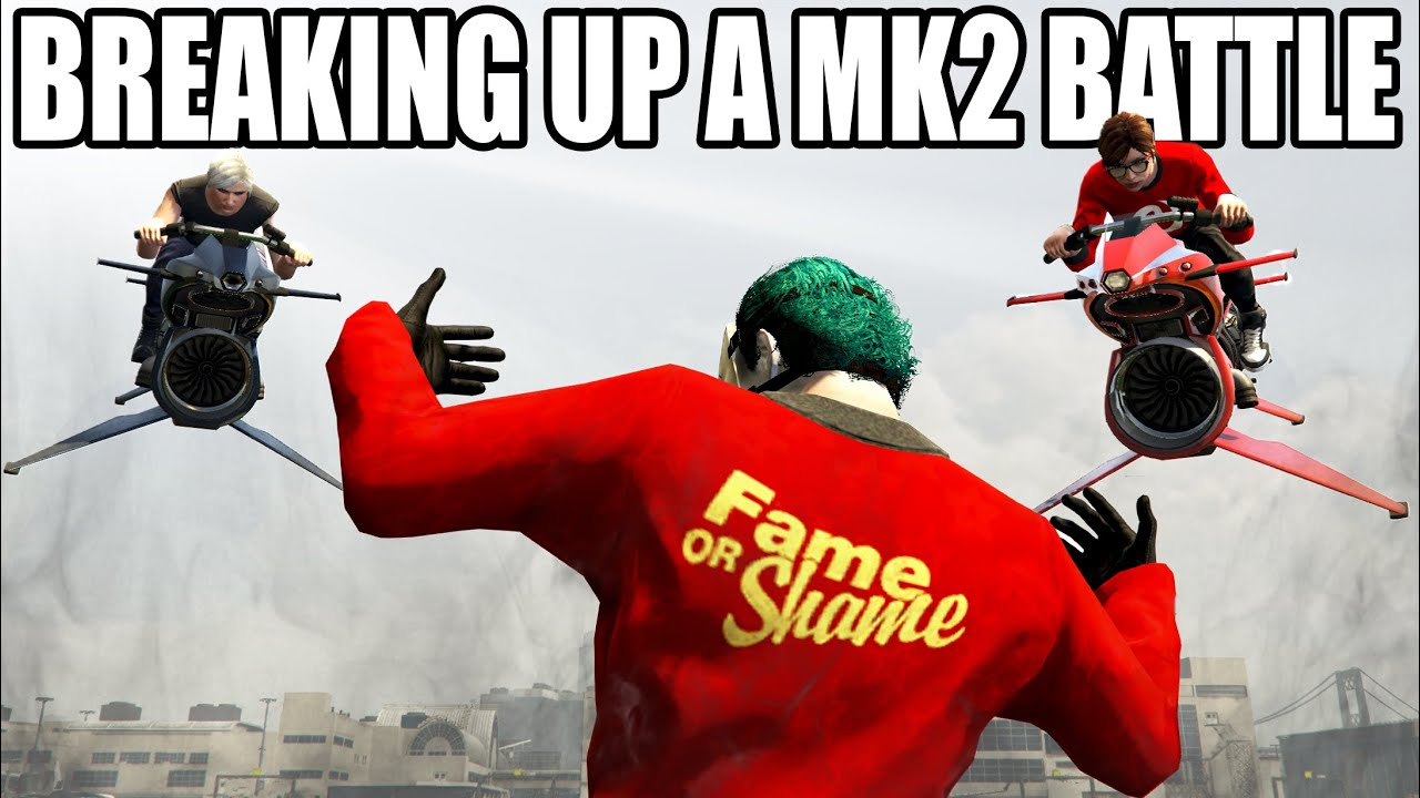 I Broke Up An OPPRESSOR MK2 Battle And DIDN'T Regret it !