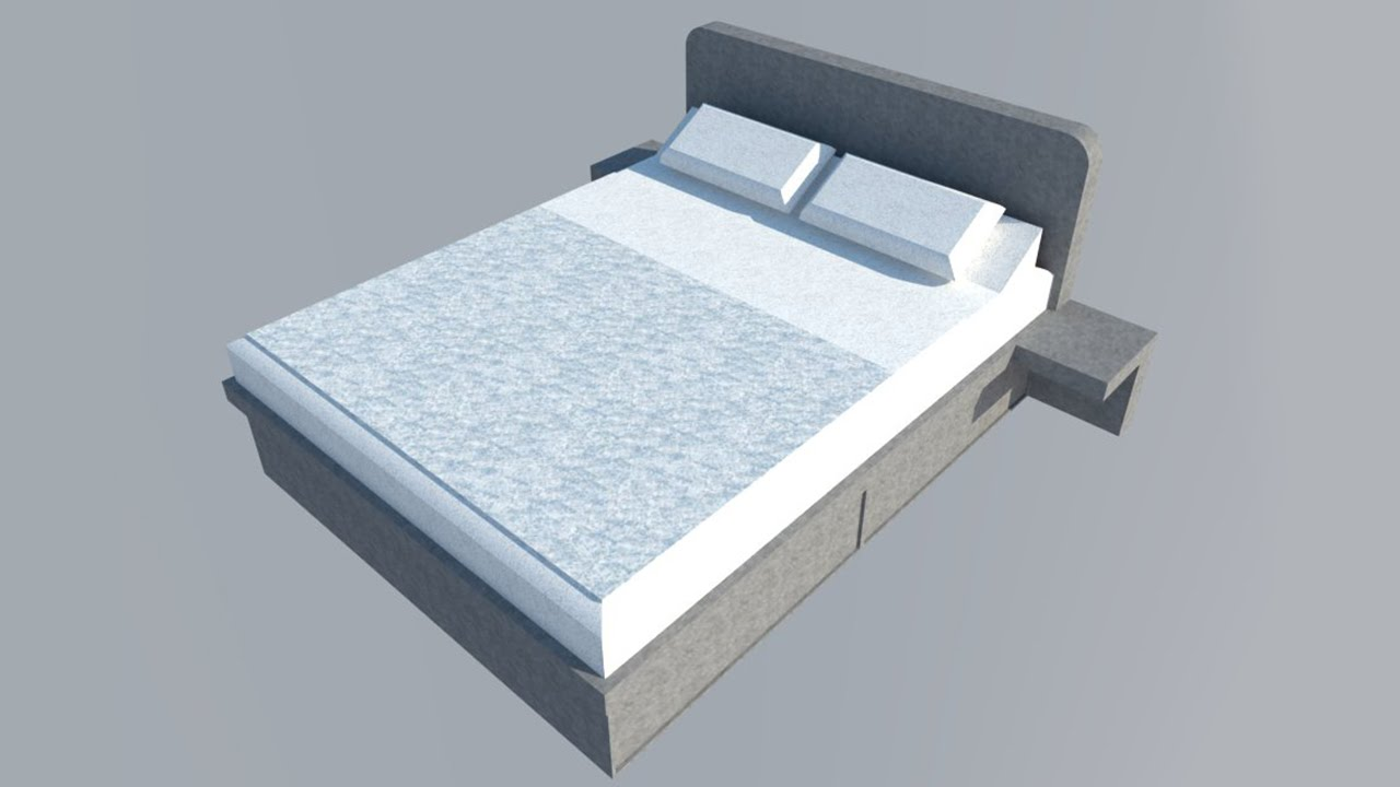 1# - Component: bed made in free Google SketchUp 8