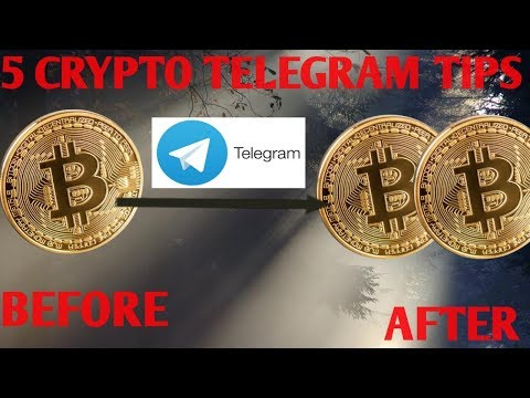 5 CRYPTO TELEGRAM GROUP TIPS TO DOUBLE BITCOIN