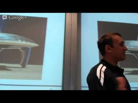 Aurora team members speaking at the Melbourne EV Expo 2013