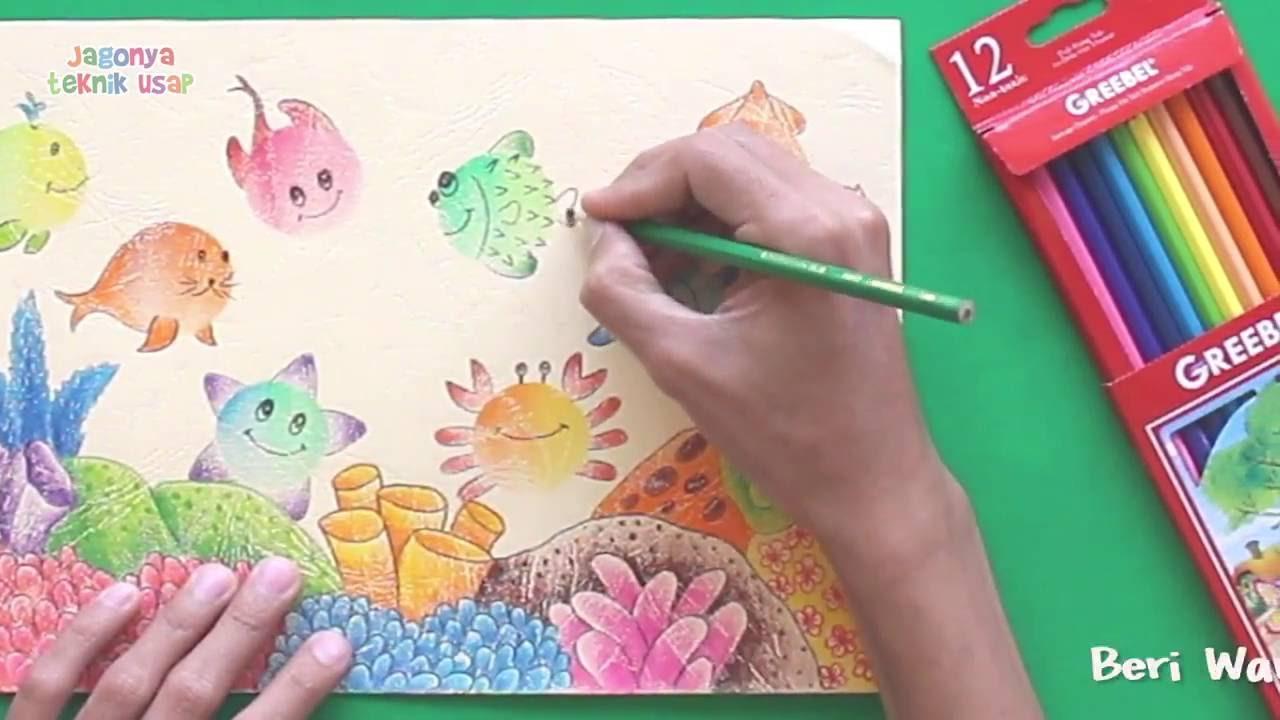 Menggambar Biota Laut Dengan Teknik Usap Greebel Youtube