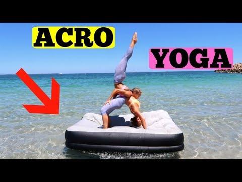 Acro Yoga INFLATABLE MATTRESS Challenge!