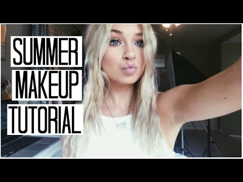 Summer Makeup Tutorial | Simple Glowy Summer Makeup Look