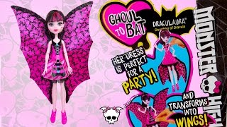 Draculaura Ghoul To Bat Monster High Unboxing Review