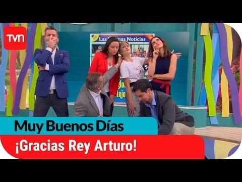 Arturo Vidal comparte imitación de festejo de Muy Buenos Días | Muy buenos días