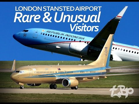 London Stansted Airport - 9M-III Sultan of Johor Indonesia Republik A-001 AirZena Rare Planespotting