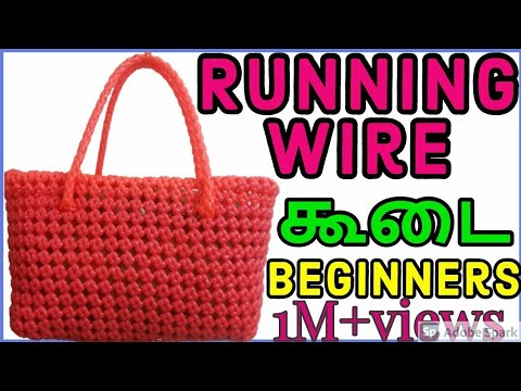 Tamil-1 Roll Normal Running Wire Koodai Tutorial for beginners|Plastic wire Koodai with running wire
