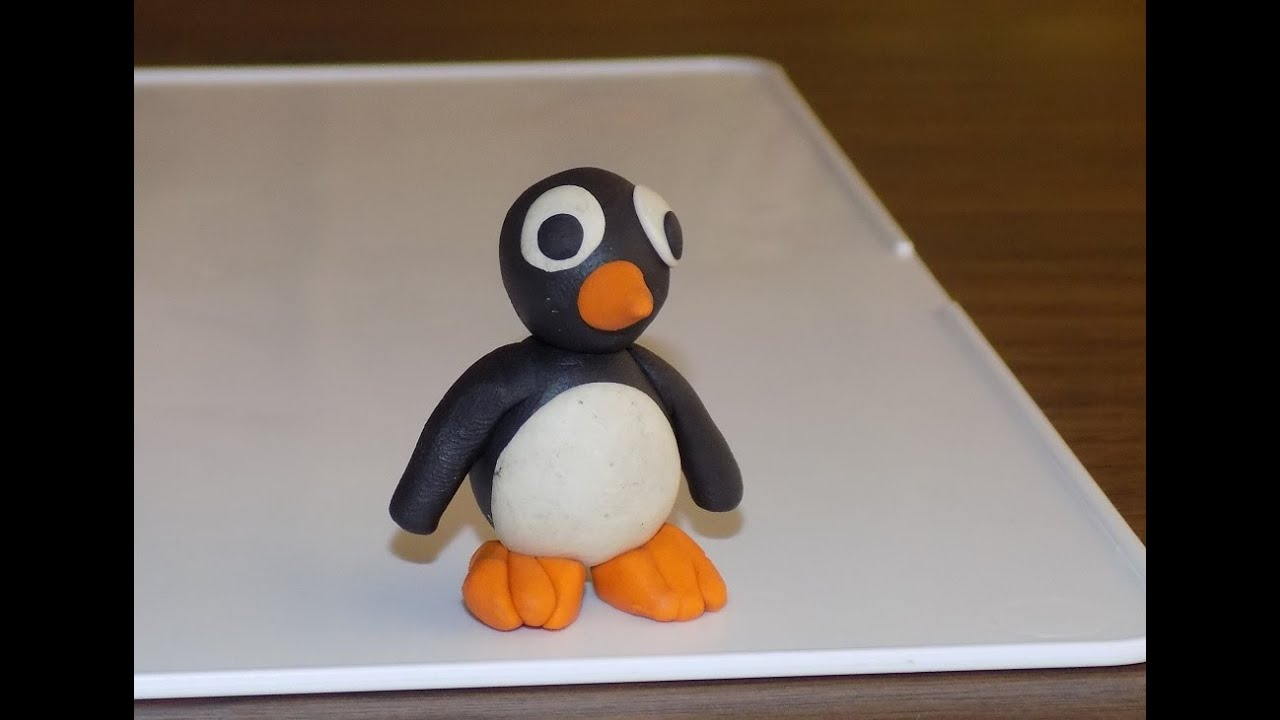 как слепить пингвина из пластилина