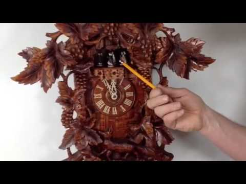 Fox and the Grapes Black Forest 8 Day Musical Cuckoo Clock.