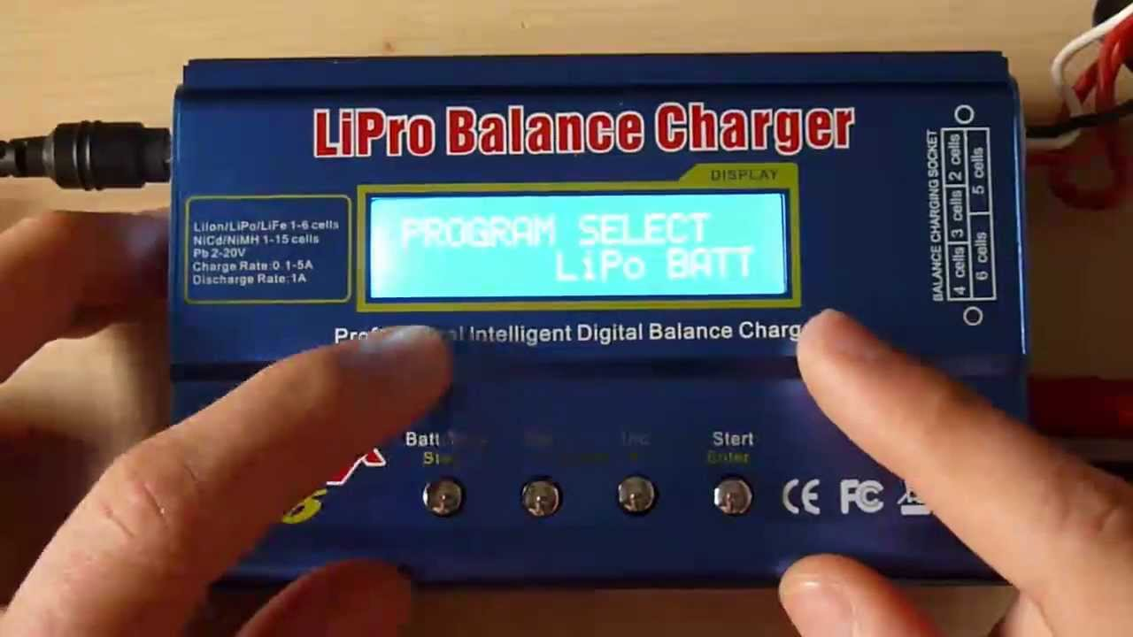 Airsoft Imax B6 Charger Une Lipo Et Nimh Youtube B6ac Digital Balancer