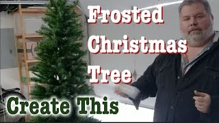 CREATE THIS: Frosted Christmas Tree