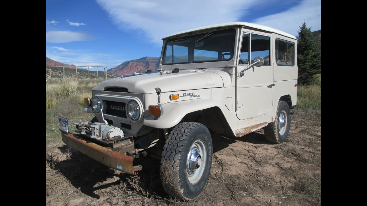 1970 toyota fj40 4x4 land cruiser with oem winch for sale in vail colorado youtube. Black Bedroom Furniture Sets. Home Design Ideas