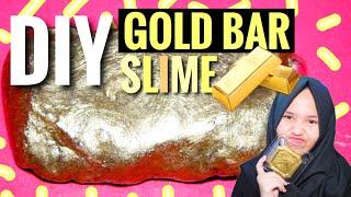 DIY GOLD BAR SLIME! ||  SLIME TUTORIAL INDONESIA! MUDAH!