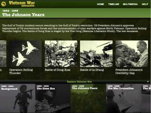 Vietnam War Interactive iPad App Demo