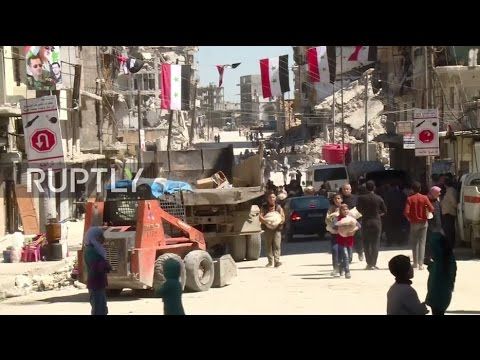 Syria: Russian military deliver humanitarian aid to residents in eastern Aleppo