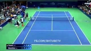 Download Bernard Tomic vs Damir Dzumhur - US Open 2015 R1 HIGHLIGHTS | HD