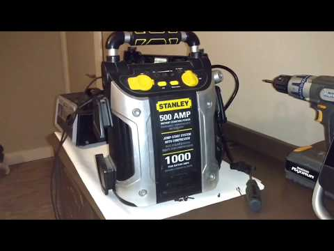 stanley-1000-peak-amp-booster-pack-power-station-review-(bad-battery?)-with-air-pump