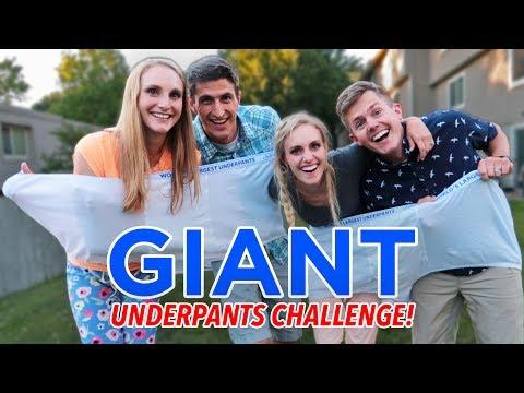WORLD'S LARGEST UNDERPANTS CHALLENGE! (HILARIOUS!)