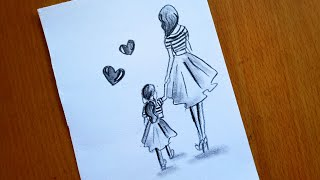 daughter easy mother drawing