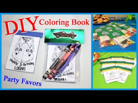 DIY- Coloring Book Party Favors